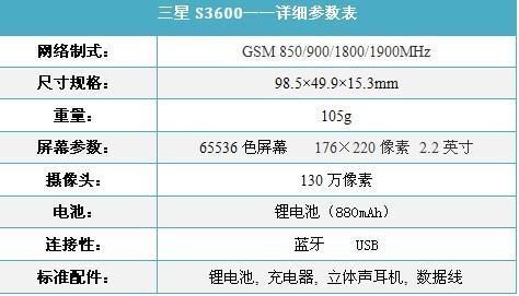 时尚简约三星轻薄翻盖S3600行货卖840