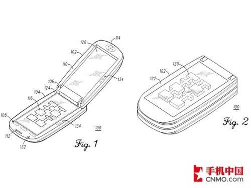 创意3D翻盖手机 摩托罗拉专利申请曝光