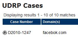 Facebook上訴搶奪Facebok.com域名