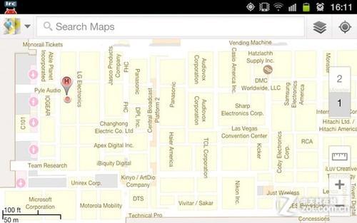 谷歌地图室内导航新功能亮相CES 2012