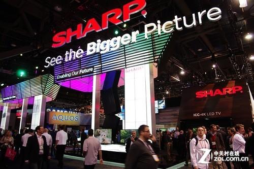 SHARP百年的力量CES2012推4色LED电视