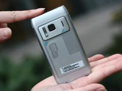 诺基亚 N8 银色 外观图