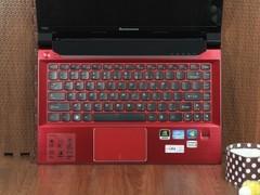 联想 V480s活力红 键盘面图