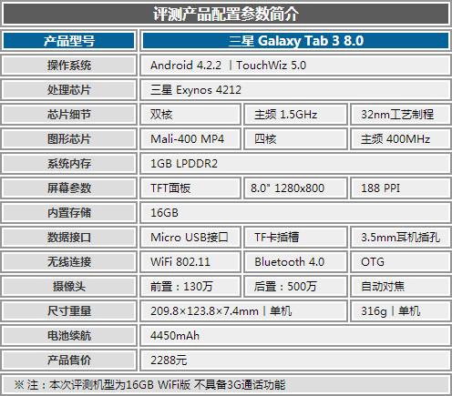 两千余元三星亲民机 Galaxy Tab 3评测