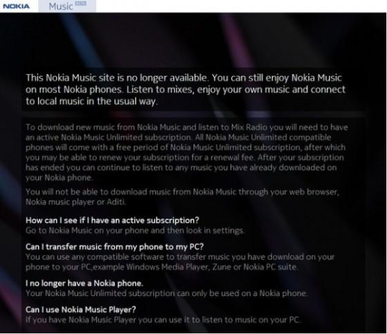 诺基亚关闭印度桌面音乐下载服务