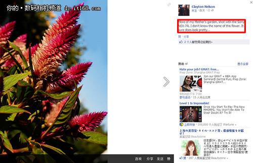 FaceBook流传索尼NEX-7R首张样张曝光
