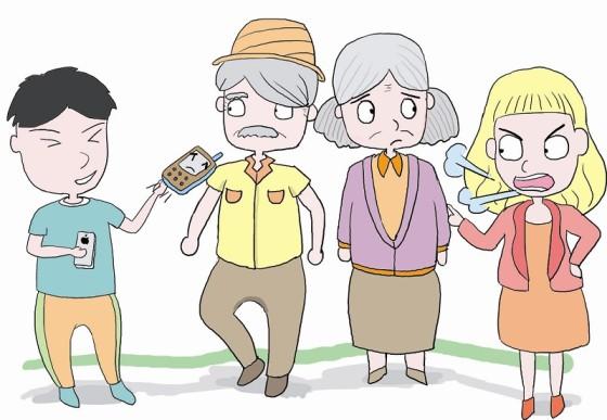 网友列出不孝七宗罪淘汰手机送父母上榜惹争议
