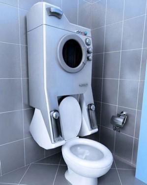 指南:马桶和洗衣机一体化新设计