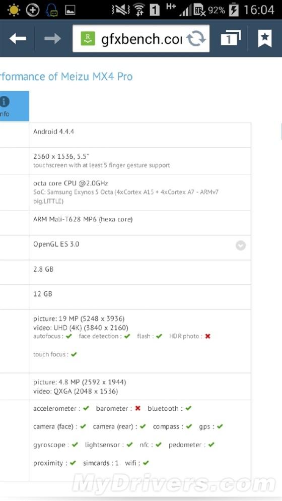 魅族MX4 Pro配置出炉!