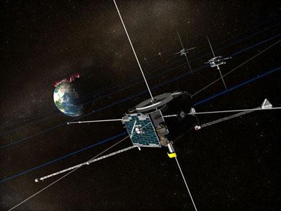 美卫星揭示极光能量来源磁场绳织成极光通道