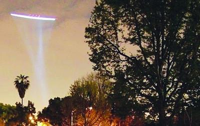 杭州萧山机场上空发现的不明飞行物。资料图