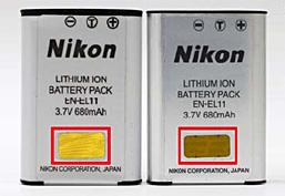 小心自燃两款假冒尼康电池现身市场