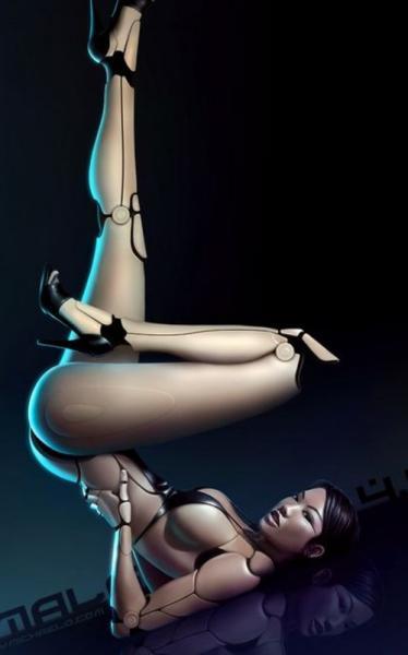 真人与机器的完美结合最性感的女机器人