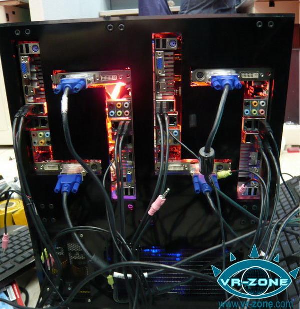 一个机箱4台电脑富士康LANPARTY主机
