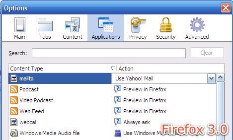 Firefox1.0到3.0界面变化一览