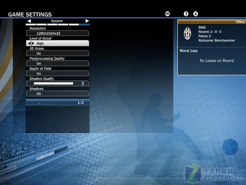 16:9占优 5大规格液晶实战《FIFA10》