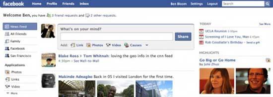 科技时代_Facebook新页面今日上线向Twitter发起挑战