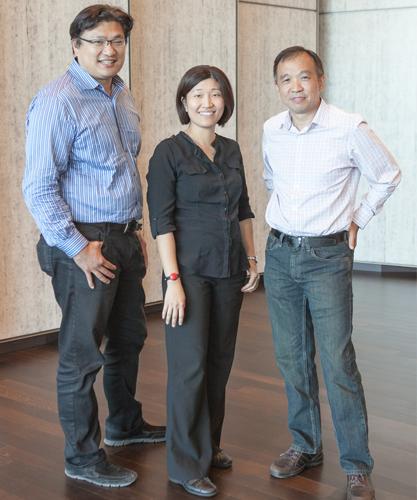 纪源资本合作人童士豪、李宏玮和符绩勋(从左至右)