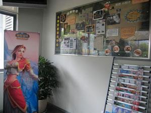 九城位于上海的客户服务中心室内