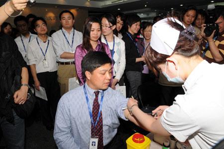 科技时代_联想为地震灾区捐款1000万 600余员工自发献血