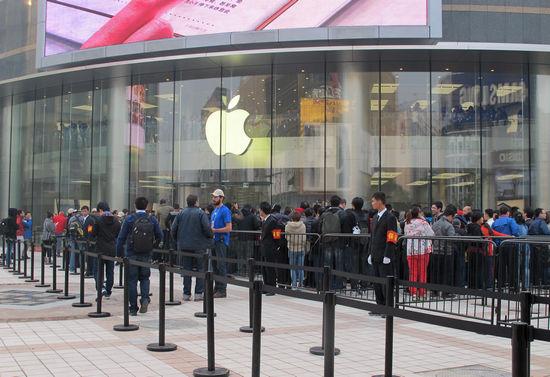 王府井苹果店今日正式开业