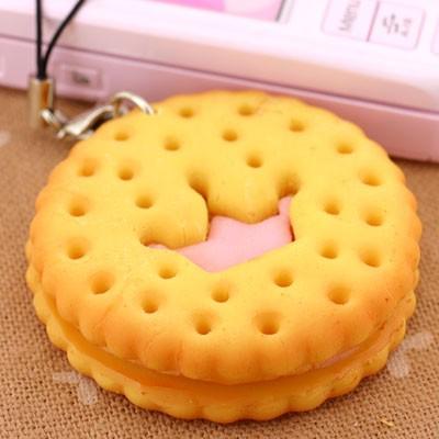 圆形格子饼干简笔画