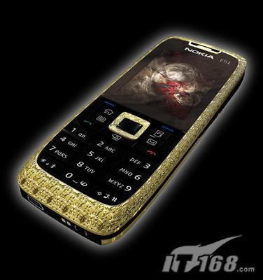 售价高达30万诺基亚E51黄金钻石版登场