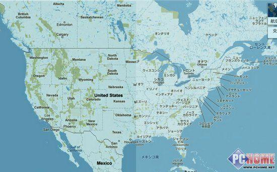 美国地图而美国用户仍
