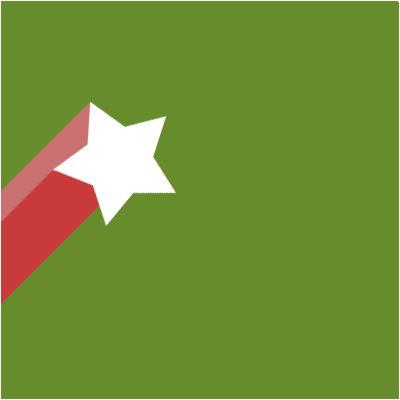 填充绿色,新建图层,选择自定义形状工具,载入系统自带的五角星形状,绘