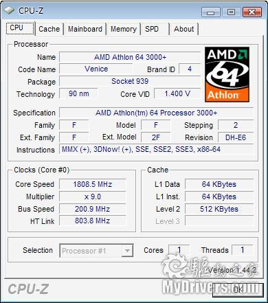 下载:CPU-Z1.44.2