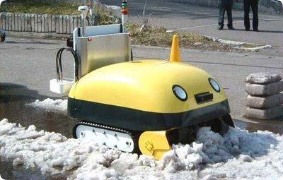 日本推出雪太郎机器人吃雪造砖(组图)