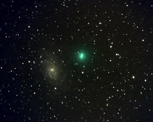 图文:07年12月30日西班牙出现的塔特尔彗星