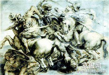 美专家称16世纪壁画暗藏达芬奇失踪巨作(图)