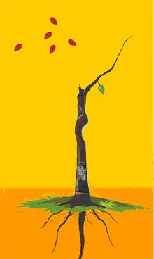 1、解释:红绿叶少、树根深,见虫子,妻子聪明漂亮,多才艺