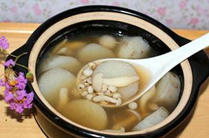山药薏米蘑菇汤(图)