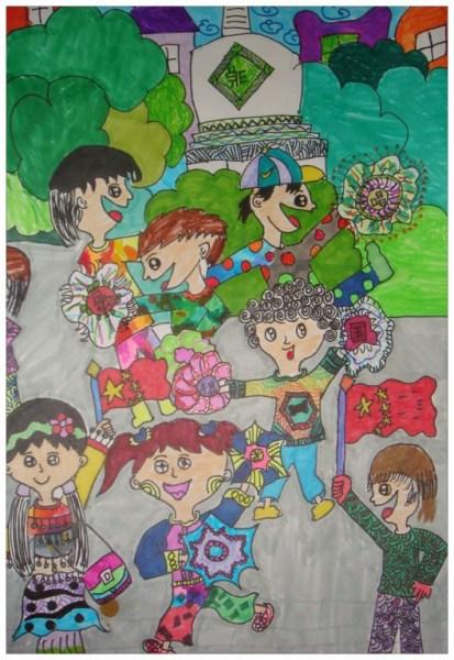 小学生小学:歌唱大全风华画展少年班会祖国教案图片