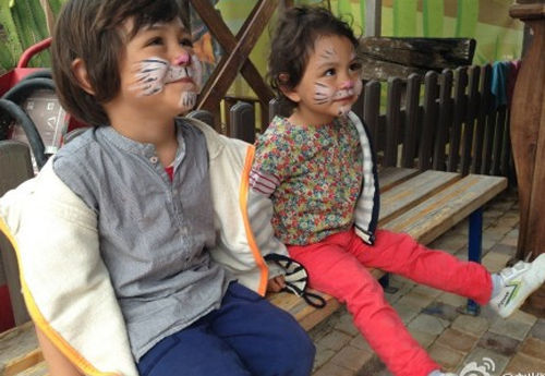 刘烨儿女――诺一和霓娜