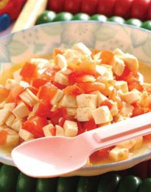 宝宝食谱:番茄豆腐(图)
