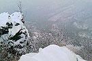 美丽的香山雪景