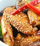 香辣豆干烧鸡翅