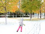 北京小区雪景