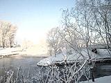 朝阳:白雪皑皑现红日分外妖娆
