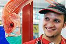 澳洲大嘴鱼能吞进拳头