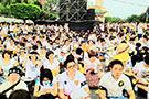 台湾士兵虐待案抗议现场