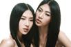 双胞胎模特亲昵照(组图)