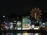 夜色中灯光绚烂的釜山