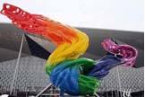 志愿者纪念雕塑飞翔的心愿