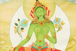 杜吉邓珠《绿度母》