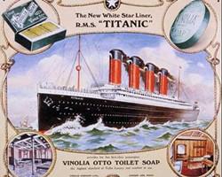 当时海报上的泰坦尼克号