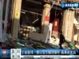 银川一餐厅发生剧烈爆炸 满地碎玻璃